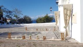 Διακόσμηση ναού με γάζες και γυψόφυλλο