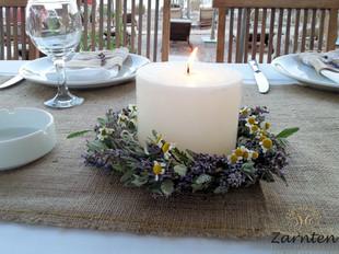 Διακόσμηση γάμου με λεβάντα και χαμομήλι