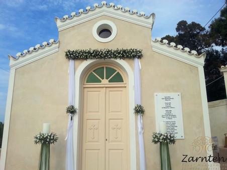 Στολισμός εκκλησίας στο εκκλησάκι του Αγίου Μάμα
