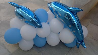Διακόσμηση βάπτισης δελφίνια
