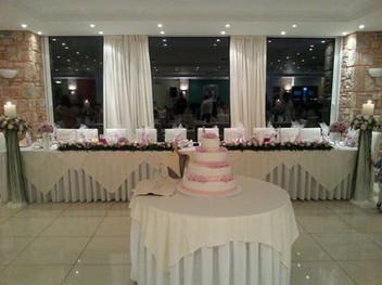 Διακόσμηση δεξίωσης γάμου στο Nautica bay hotel Porto Heli