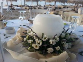 Τραπέζι γάμου με λεβάντα και λυσίανθους