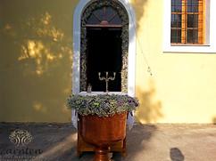 Διακόσμηση βάπτισης με γυψόφυλλο και αμάραντο