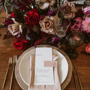Bold Floral Table Arrangements
