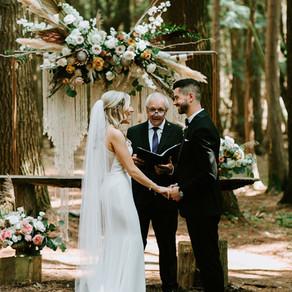 Sarah + Scott Boho Glamping Wedding