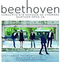 Beethoven Quatuor Varèse Concert N°4 version de chambre-Quatuor Op.16