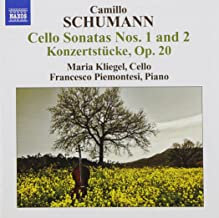 Camillo Schumann Maria Kliegel Cello-Francesco Piemontesi Piano