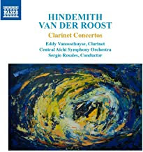 Van der Roost Hindemith Clarinet concertos