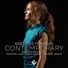 Adélaïde Ferrière  Contemporary Works for Percussions Mantovani/Hurel/Rodney Ben
