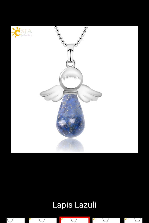Collier ange sodalite