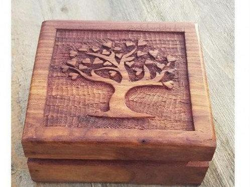 Boîte en bois arbre de vie