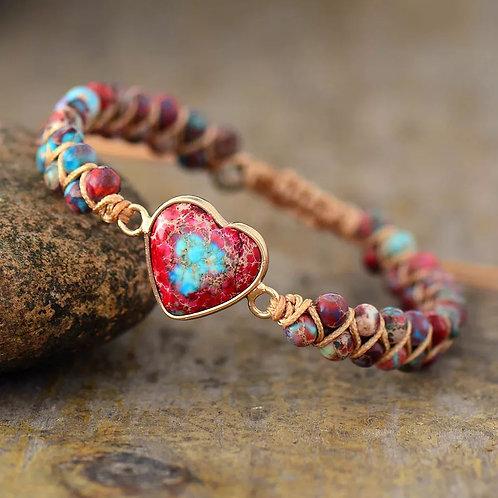 Bracelet tressé en jade