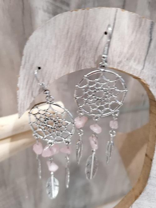 Attrape rêve quartz rose