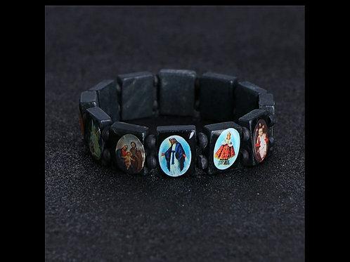 Bracelet en bois des saints