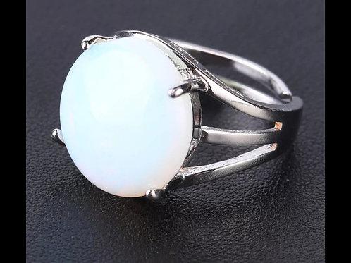 Bague pierre opale