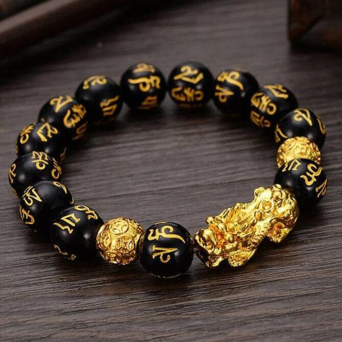 Bracelet fen shui en obsidienne