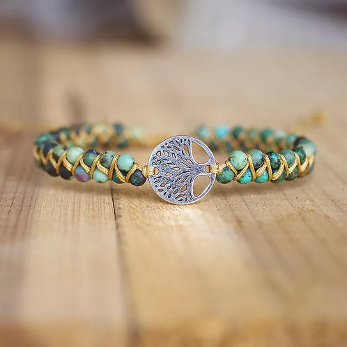 Bracelet Amazonie fleur de vie tressée