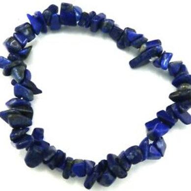 Bracelet chips lapis lazuli