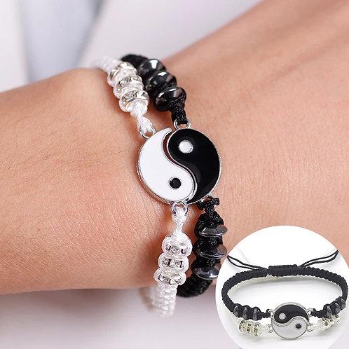Bracelet réglable Ying et yang séparable