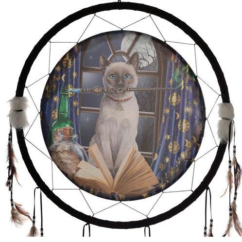 Attrape rêve sorcier de chat grand modèle 60cm