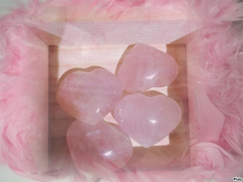Cœur quartz rose