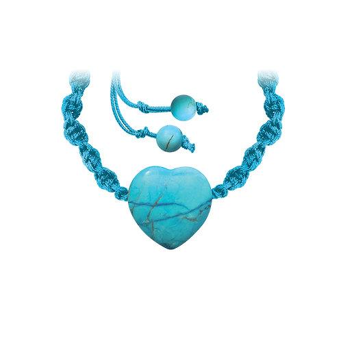 Bracelet tressé turquoise