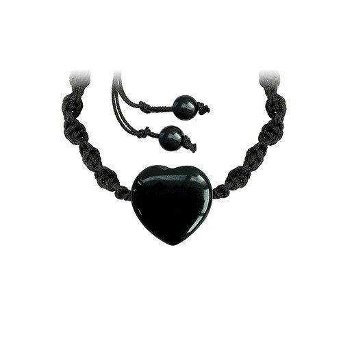 Bracelet tressé onyx