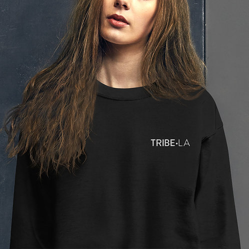 Embroidered TRIBE-LA Crew Neck Uni Sex