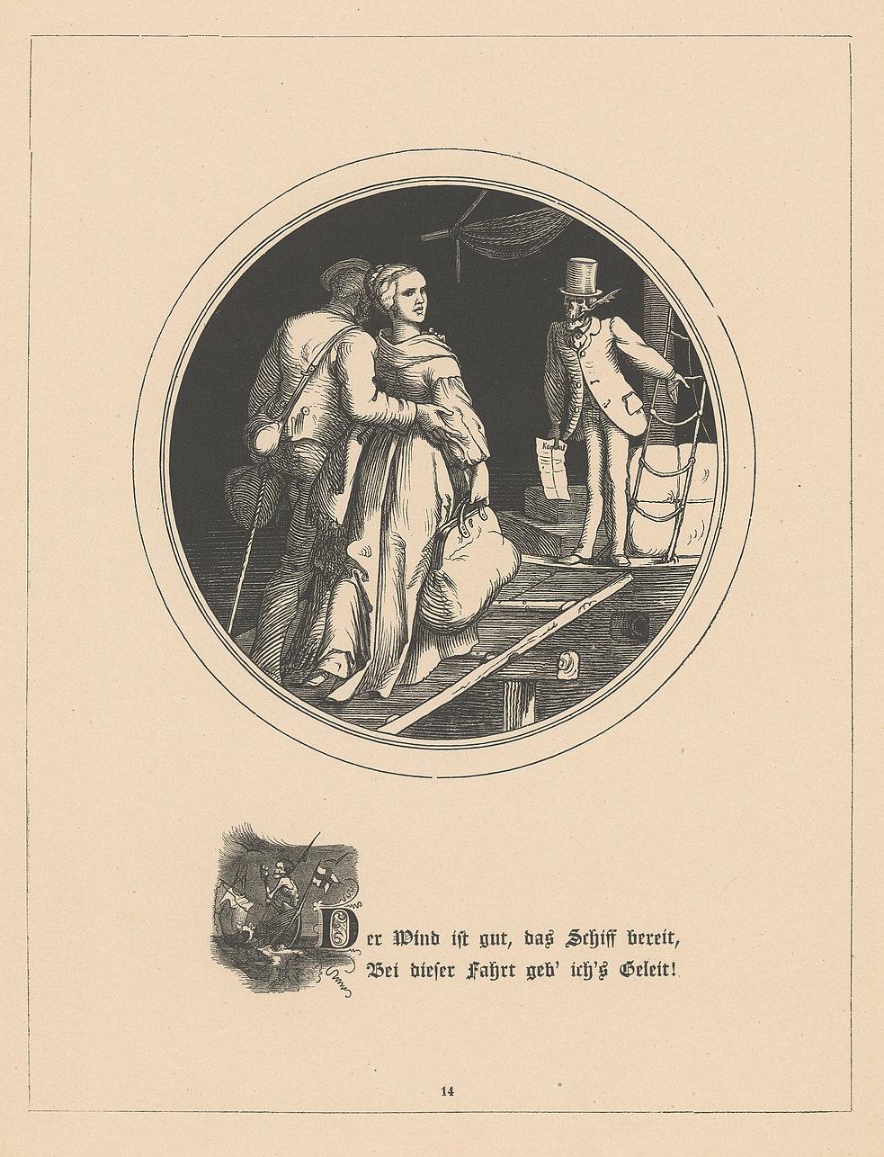 Der Tod auf dem Schiff der Auswanderer