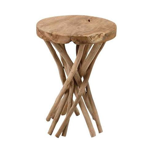 שולחן צד עץ טיק ווילד