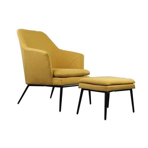 כורסא והדום אולסן-צהוב