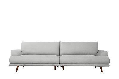 """ספה """"ברונו"""" אפורה בהירה"""