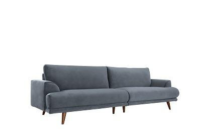 """ספה """"ברונו"""" אפורה"""