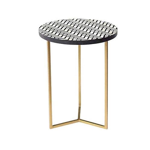 שולחן צד קאמל רגלי זהב