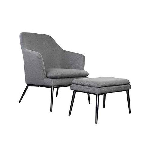 כורסא והדום אולסן-אפור