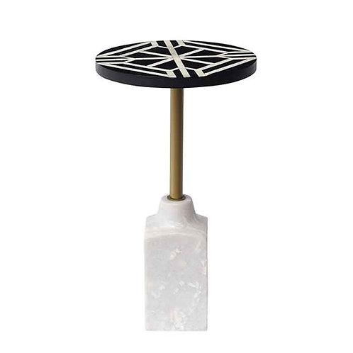 שולחן צד קאמל בסיס שיש ורגל זהב