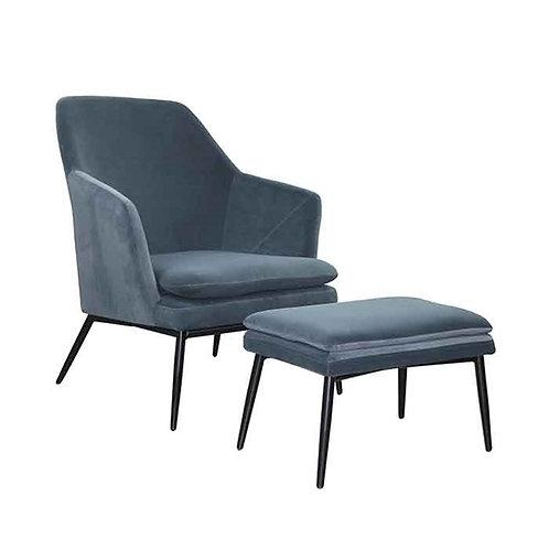 כורסא והדום אולסן-כחול