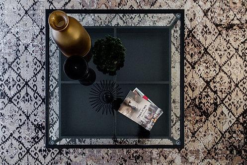 """שולחן סלון """"אלמוג"""" שחור - מרובע"""