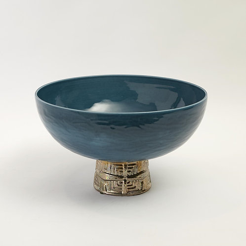 Maze Compote Antique Bowl by Global Views