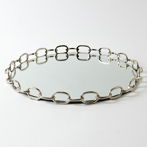 Linked Mirrored Tray by Global Views
