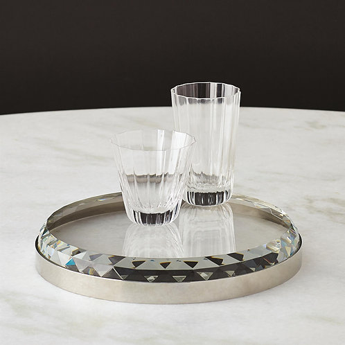 Banded Crystal Tray by Global Views
