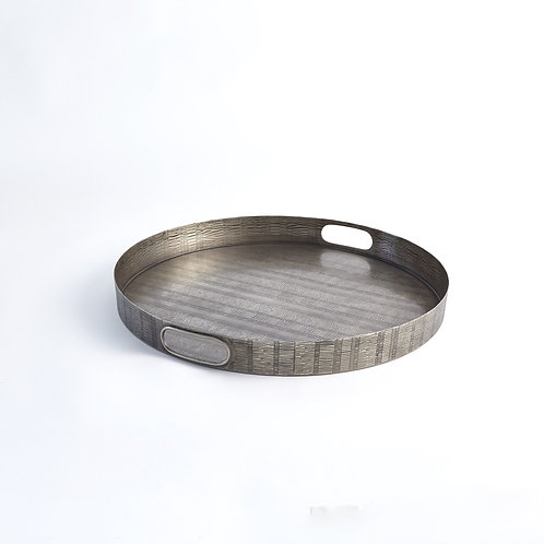 Kokoro Etched Round Tray by Global Views