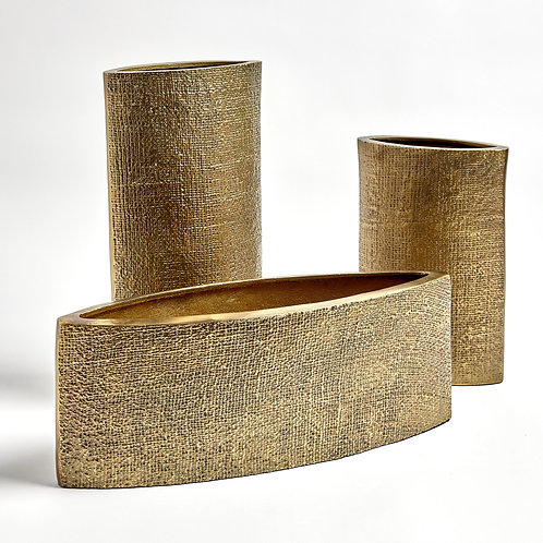 Hemp Etched Planter by Global Views