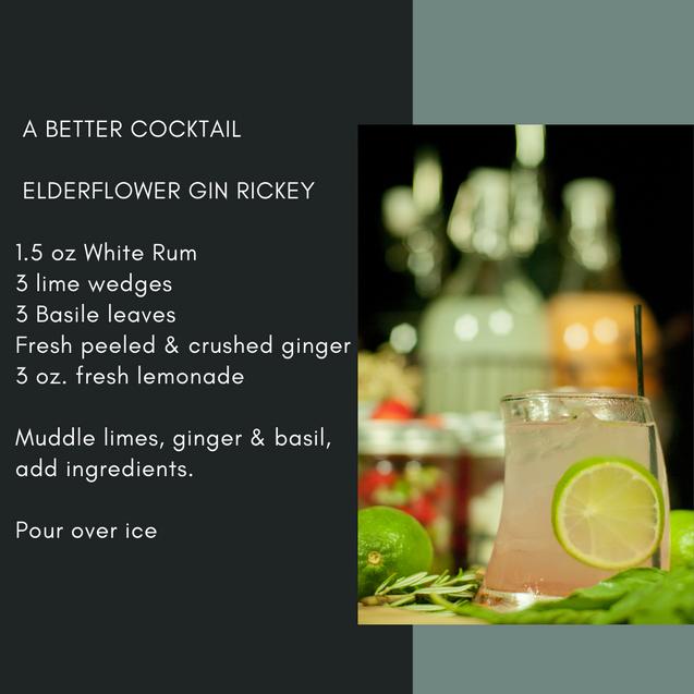 Elderflower Gin Rickey