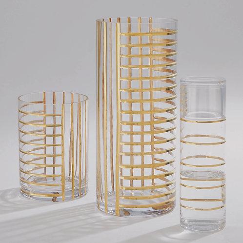 Glass Grid Vase by Global Views