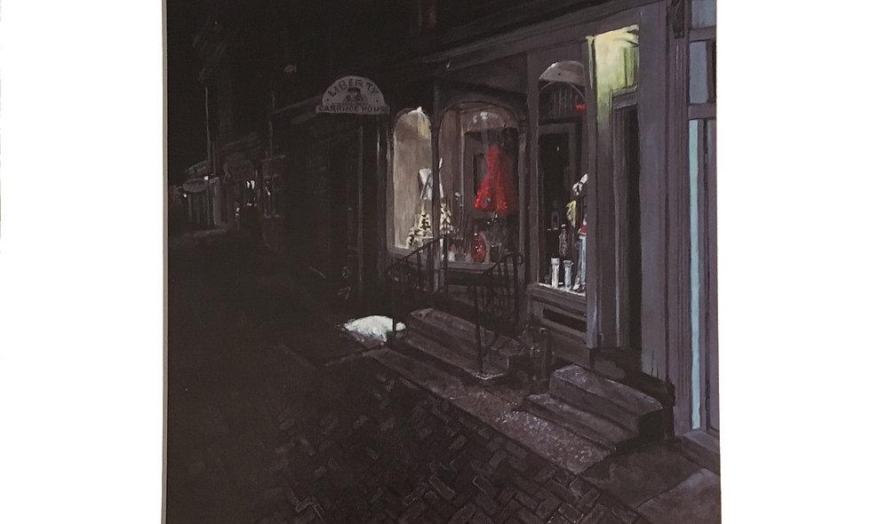 February Evening on Bridge Street Print