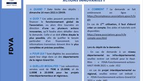 """Campagne FDVA Grand-Est """"fonctionnement et actions innovantes"""", top départ !"""