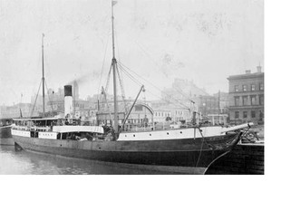 """The Steam Ship """"Edina""""-a folk story."""