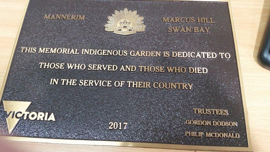 Mannerim memorial plaque