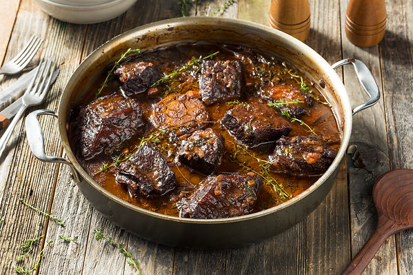 Homemade Braised Beef Short Ribs with Gr